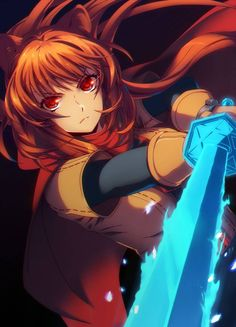 Warrior girl Raphtalia with sword: Tate no Yuusha no Nariagari anime fan art [Artist: TheSaigo] Anime Art Fantasy, Manga Hair, Manga Anime, Warrior Girl, Anime Kunst, Anime People, Cute Gif, Awesome Anime, Fantasy Characters