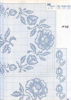 Gallery.ru / Фото #58 - Punto de сruz 6 - anfisa1 Crochet Tablecloth, Crochet Doilies, Crochet Flowers, Crochet Edgings, Stitch 2, Cross Stitch Patterns, Sewing Patterns, Bullet Journal, Valentines