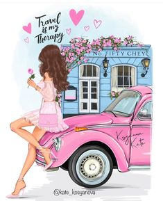 Cute Girl Wallpaper, Retro Wallpaper, Watercolor Girl, Girly Drawings, Girls With Flowers, Romance And Love, Illustration Girl, Girl Cartoon, Cute Art