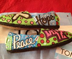 Hand Painted Toms by: Karen Laughlin