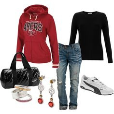 GO NINERS! Game day outfit