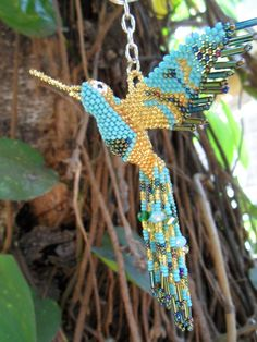 Hey, I found this really awesome Etsy listing at https://www.etsy.com/listing/233932236/hummingbird-beaded-3d-bird-ornament-seed