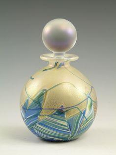 Isle of Wight Glass Perfume Bottle Small Flask RARE Seascape Range   eBay