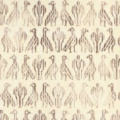 Paloma in Coraline on Natural from Rose Tarlow #textiles #fabric #hemp #aviary #birds #brown
