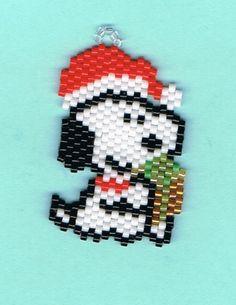 Hand+Beaded+Santa+Snoop+Dog+earrings+by+beadfairy1+on+Etsy