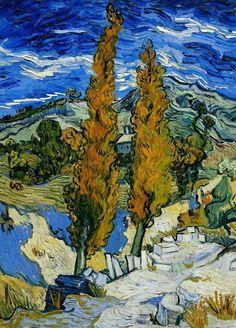 """Vincent van Gogh. """"Peupliers à Saint-Rémy"""""""