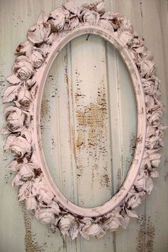Beautiful Soul : Oval pink distressed frame with roses
