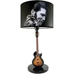 Elvis Presley The King 1968 Comeback Special Guitar Home Decoration Lamp
