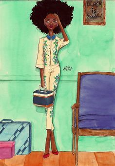 vffashionillustration:  Black Beauty nº 2  http://18-15n-77-30w.tumblr.com/