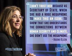 Naomi Klein can #FeelTheBern and #FueltheBern