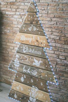 Arbolitos de Navidad Hechos con Pallets | Ideas Diseño de Interiores