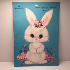 Easter Decorations Super Cute Bunnies, Ducks, Lambs - Hallmark 1960's 12 Paper Cutouts