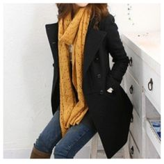Available+in+Black+  Material:+Wool+Blend+  Size:+S,+M,+L  S:Length:+79cm+  Across+Shoulder:+38cm+  Bust:+90cm+  Sleeve+Length:+56cm+  Waist:+82cm	    M:Length:+80cm+  Across+Shoulder:+39cm+  Bust:+96cm+  Sleeve+Length:+57cm+  Waist:+84cm    L:Length:+82cm+  Across+Shoulder:+40cm+  Bust:+103cm  S...