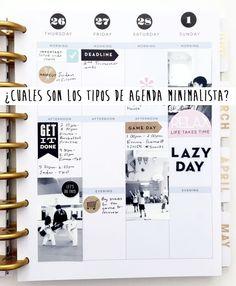 Septiembre es el mes en el que que empezar a apuntar y a planificar el resto del año. Descubre mis 3 tipos preferidos de agenda minimalista.