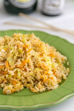 This cabbage fried rice takes less than 30 minutes and is a great way to use up left-over rice. It's a breeze and has fabulous Asian-inspired flavor.