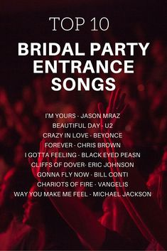 Bridal Party Entrance Songs