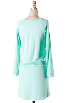 The Weekender Tie Waist Dress - Mint Check length....