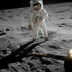 """Astronaut Buzz Aldrin Apollo 11 original Photograph 1969 Standing on The Moon Print Art Print"""
