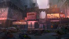 ArtStation - One way gates to the Dark Zone _ The Division, Daniel Matthews