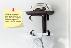 Shop ironing board hanger from Pottery Barn. Our furniture, home decor and accessories collections feature ironing board hanger in quality materials and classic styles. Drying Rack Laundry, Laundry Room Organization, Laundry Storage, Laundry Room Design, Small Storage, Closet Storage, Storage Ideas, Small Shelves, Storage Shelves