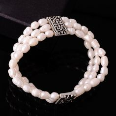 Akarma Bracelet natural Freshwater Cultured Pearl Alloy Carving Multilayer Statement Bracelets & Bangles Mujer Accessories-in Strand Bracelets from Jewelry on Aliexpress.com | Alibaba Group