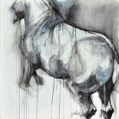 "Saatchi Online Artist: Benedicte Gele; Pastel, Drawing ""Alerte VII"""