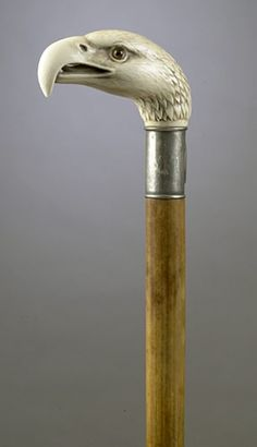 EAGLE-HEAD IVORY CANE,