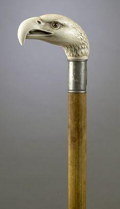 EAGLE-HEAD IVORY CANE,