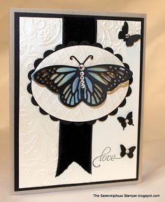 Impression Obsession butterfly die, with sponged layer