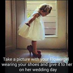 For future weddings, cute idea