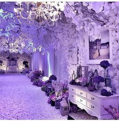 Purple ambience #decor #party by lotus