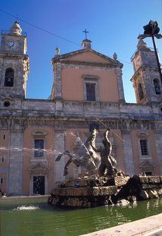 Santa Maria La Nova and San Michele Cathedral, Caltanissetta, Sicily, built between 1570 and 1622.