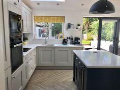Kitchen Dining, Kitchen Cabinets, Dining Room, Hague Blue Kitchen, Light Grey Kitchens, Diy Kitchens, Bespoke, Kitchen Remodel, Kitchen Ideas