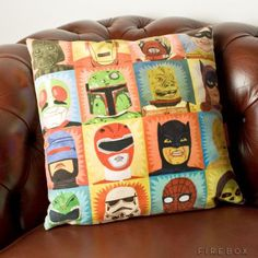 Guy Gift: Superhero pillow for the man cave couch