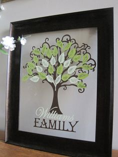 Family Tree Kit Vinyl by jessicacromar on Etsy, $9.00. Great gift for parents, grandparents, siblings and adult children. Get your holiday shopping done early with a beautiful and meaningful family tree!
