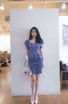 Outfit iu in hotel del luna K Fashion, Luna Fashion, Korean Fashion, Fashion Outfits, Kpop Outfits, Chic Outfits, Iu Hair, Flower Skirt, Kpop Girls