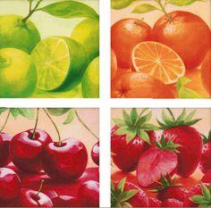 Cuadros de frutas para decorar nuestra cocina  Arte