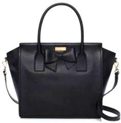 Kate Spade Hanover Street Charee Womens Black Purse Leather Satchel
