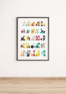 Nursery Themes, Nursery Prints, Nursery Art, Alphabet Nursery, Alphabet Print, Classroom Themes, Art Classroom, Red Truck Decor, Halloween Prints