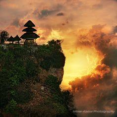The Pura Luhur Uluwatu Temple in Bali...breathtaking.