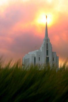Rexburg, ID LDS Temple - like a lighthouse lighting the way...