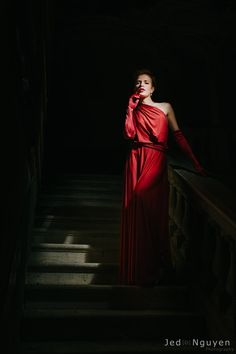 Vestido largo rojo oscuro vestido infinity vestido por mimetik
