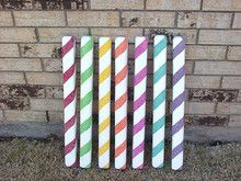Candy Sticks Party Decorations 7 Mixed Color Peppermint Gingerbread / Christmas Candy Sticks Part Candy Themed Party, Candy Land Theme, Birthday Candy, Themed Parties, Birthday Crafts, Birthday Ideas, Gingerbread Christmas Decor, Candy Land Christmas, Gingerbread Decorations