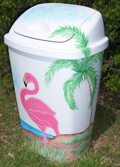 painted garbage cans - Can you or Harley draw a Bobcat?