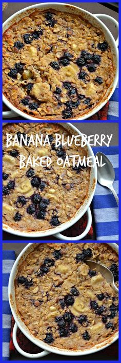 Simple Blueberry Banana Baked Oatmeal. #HealthyEating #CleanEating #ShermanFinancialGroup