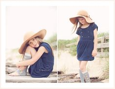 cute little girl pose and love her hat.