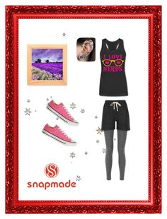 """""""Snapmade3"""" by fatimazbanic ❤ liked on Polyvore featuring NLST and Converse"""