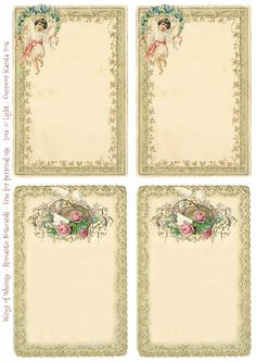 Wings of Whimsy: 1899 Romantic Notecards #victorian #freebie #printable #ephemera #stationery #romantic #notecard