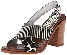 Sam Edelman Women's Ivy Dress Sandal, Black/Ivory, 6 M US Sam Edelman