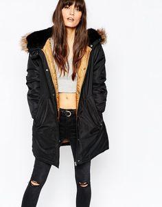 Vero Moda Premium Faux Fur Hooded Parka, $135 | 27 Amazing Faux Fur Coats That'll Keep You Warm This Winter